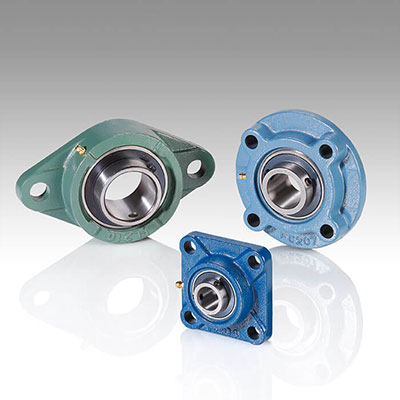 Flanged bearing housings and units
